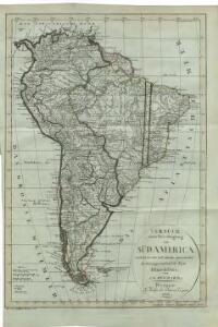 Versuch einer Berichtigung von Südamerica : nach den neuesten und sichersten astronomischen Bestimmungen und nach der Karte Olmedilla's / von C. G. Reichard