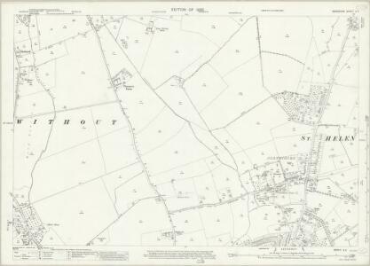 Berkshire X.2 (includes: Abingdon; Abingdon St Helen Without; Radley; Sunningwell; Wootton) - 25 Inch Map