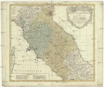 Statvs ecclesiastici nec noc magni dvcatvs Toscaniae nova tabvla geographica