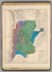 Carte physique de la Confederation Argentine.