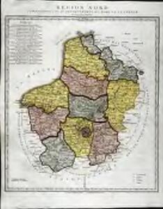 Région Nord comprenant les XI departements du Nord de la France