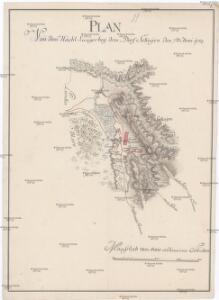 Plan von dem nacht Laager bey dem Dorf Sekujen den 7ten Juni 1789