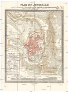 Plan von Jerusalem