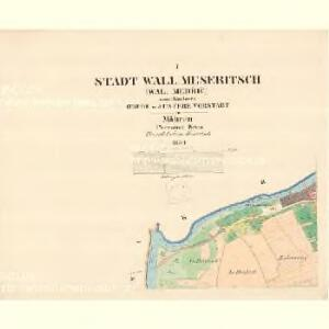 Wall.Meseritsch (Wal.Medřič) - m3264-1-001 - Kaiserpflichtexemplar der Landkarten des stabilen Katasters