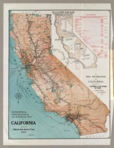 Map of California.