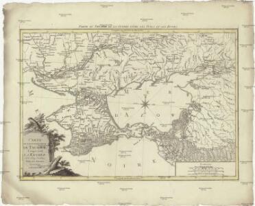 Carte du gouvernement de Tauride comprenant la Krimée et les pays voisins
