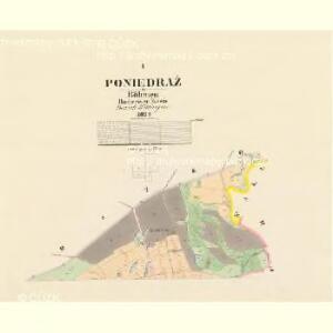 Poniedraž - c6006-1-001 - Kaiserpflichtexemplar der Landkarten des stabilen Katasters