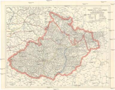 Silniční mapa Moravy a Slezska pro automobilisty
