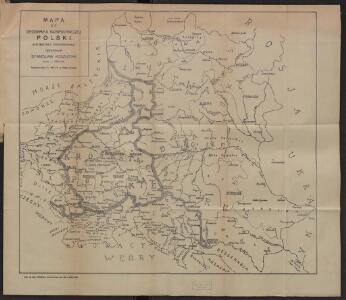 Mapa do geografji gospodarczej Polski