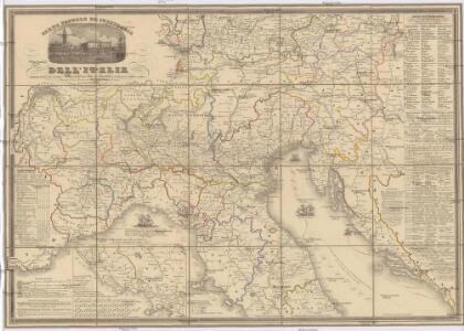 Carta postale et itineraria dell'Italia