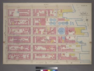 Plate 27, Part of Section 2: [Bounded by E. 14th Street, (East River Piers) Avenue D, E. 8th Street and Avenue B.]