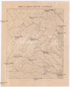 Karte des Kriegs-Theaters in Virginien