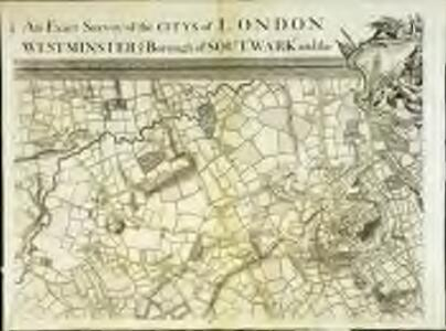 An exact survey of the city's of London Westminster , XII