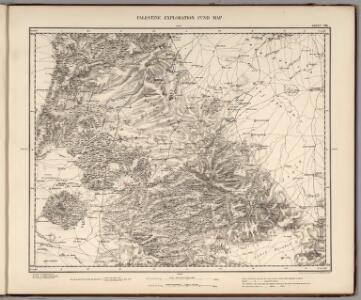 Sheet VIII.  Palestine Exploration Map.
