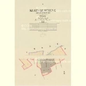 Klein-Luschenz (Malj-Lužence) - c4331-1-001 - Kaiserpflichtexemplar der Landkarten des stabilen Katasters