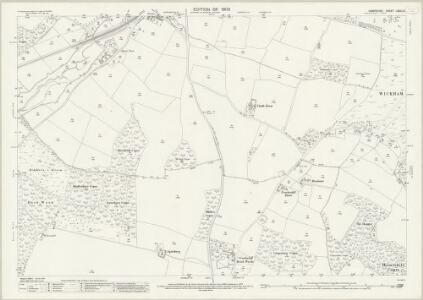 Hampshire and Isle of Wight LXVII.13 (includes: Boarhunt; Fareham; Wickham) - 25 Inch Map