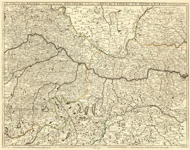 Le Cercle de Baviere, et Partie de Celuy D'Autriche, les Confins du Royaume de Boheme et du Duché de Moravie
