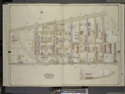 Brooklyn, Vol. 4, Double Page Plate No. 16; Part of   Ward 26; Sections 13; [Map bounded by Atlantic Ave., Forbell Ave., Broadway;     Including Liberty Ave., Fountain Ave.]; Sub Plan; [Map bounded by Magenta St.,   Boundary Line of the Borough of Bro