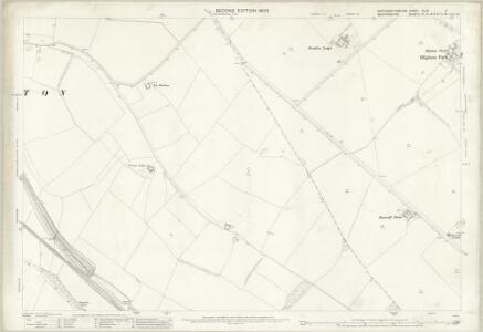 Northamptonshire XLVII.2 (includes: Newton Bromswold; Podington; Rushden; Wymington) - 25 Inch Map