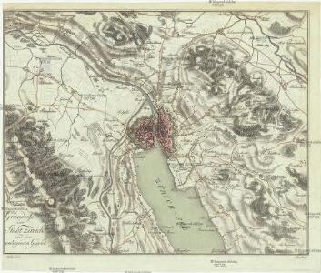 Grundriss der Stadt Zürich und der umliegenden Gegend