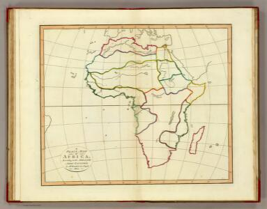 Plain map Africa.