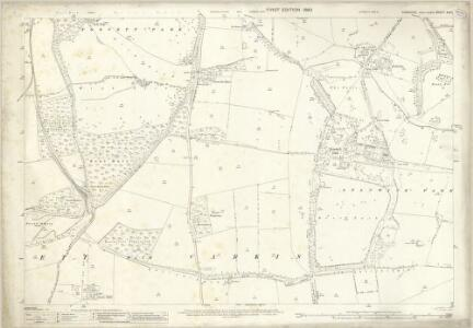 Yorkshire XXV.1 (includes: Forcett With Carkin; Stanwick St John) - 25 Inch Map