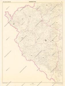 Mapa správního rozdělení ČSR: Západočeský kraj
