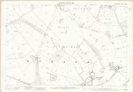 Staffordshire XXXVIII.9 (includes: Ingestre; Tixall) - 25 Inch Map