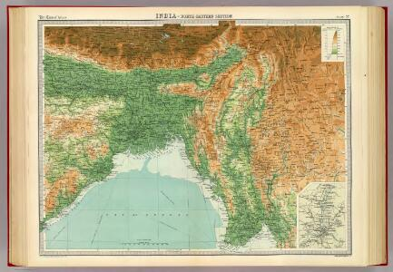 India - north-eastern section.