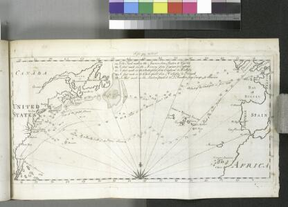 [Map of the North Atlantic Ocean to accompany Jonathan Williams' article on the use of the thermometer in discovering banks, soundings, etc..]; Transactions of the American Philosophical Society.