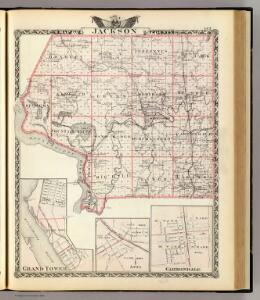 Map of Jackson County, Grand Tower, Anna and Carbondale.