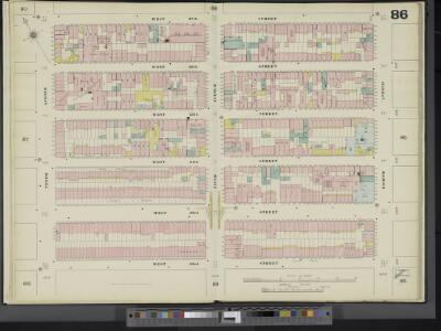 Manhattan, V. 5, Double Page Plate No. 86 [Map bounded by W. 27th St., 8th Ave., W. 22nd St., 10th Ave.]
