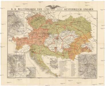 Topographische Karte Ungarn.K K Militarkarte Von Oesterreich Ungarn