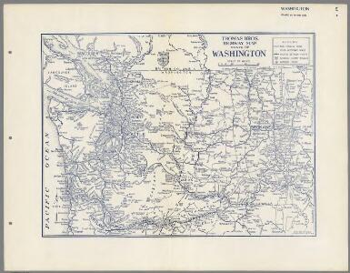 Thomas Bros. Highway Map, State of Washington.