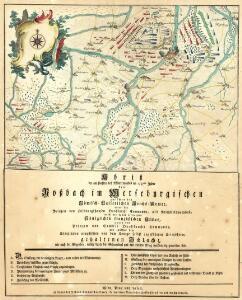 Abriß der am fünften des Wintermondes im 1757sten Jahre bey Roßbach im Merseburgischen zwischen der Römisch-Kaiserlichen Reichs-Armee, unter des Prinzen von Hildburgshausen Durchlaucht Commando, als Reichsfeldmarschall, nebst der damit vereinigten Königlichen französischen Armee, unter des Prinzen von Soubise Durchlaucht Commando, und zwischen dem Königlichen preußischen von dem Könige selbst angeführten Kriegsheere, gehaltenen Schlacht