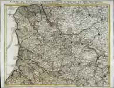 Carte de Picardie septentrionale d'Artois et des environs