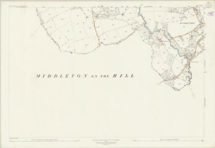 Worcestershire XVIII.12 (includes: Laysters; Little Hereford; Middleton on the Hill; Tenbury) - 25 Inch Map