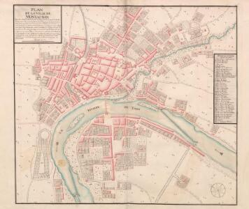 A colored plan of Montauban; drawn about 1700