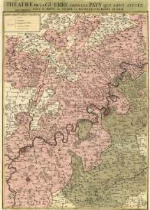 Theatre de la Guerre dans les Pays qui sont situéz Entre le Rhin, la Saare, la Moselle et la Basse Alsace