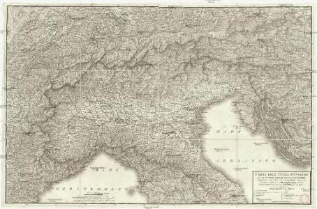 Carte dell'Italia superiore e di parte degli stati limitrofi