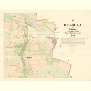 Wessela - m3354-1-002 - Kaiserpflichtexemplar der Landkarten des stabilen Katasters
