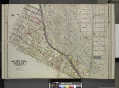 Queens, Vol. 2, Double Page Plate No. 3; Part of Long Island City Ward One (Part of Old Ward 2, 3 & 4). [Map bounded by Washington     Ave., Webster Ave., Freeman Ave., Rapelje Ave., Beebe Ave., Payntar Ave., Wilbur Ave., Hunter Ave., Jackson Ave., Th