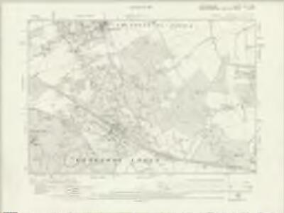 Hertfordshire XLVII.NW - OS Six-Inch Map
