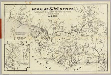 Map Of The New Alaska Gold Fields.