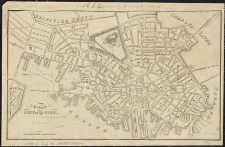 Plan of the city of Boston