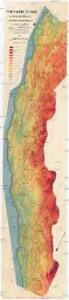 Höhenschichten-Karte der Deflationslandschaft in der Namib Südwestafrikas und ihrer Umgebung