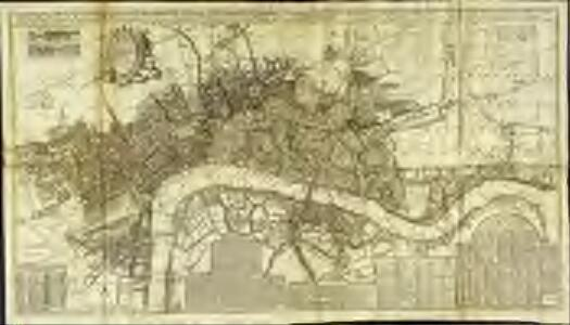 A new and exact plan of the cities of London and Westminster & the borough of Southwark to this present year