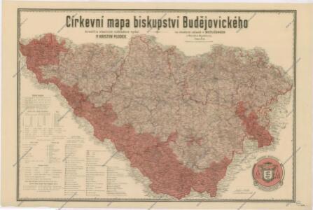 Církevní mapa biskupství Budějovického