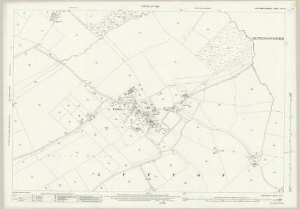 Northamptonshire XIX.8 (includes: Folksworth and Washingley; Lutton; Warmington) - 25 Inch Map