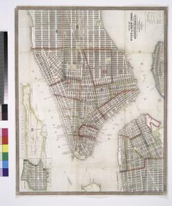 Map of the city of New York : with the adjacent cities of Brooklyn & Jersey City, & the village of Williamsburg / drawn & engraved by John M. Atwood, 19 Beekman St., N.Y.